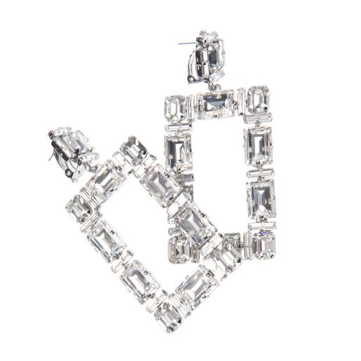 Cercei Elin cristale Swarovski Crystal Clear