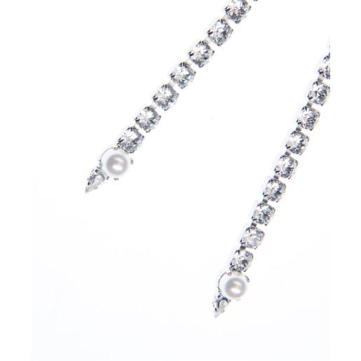 Colier Amma perle Swarovski White Pearl, cristale Swarovski