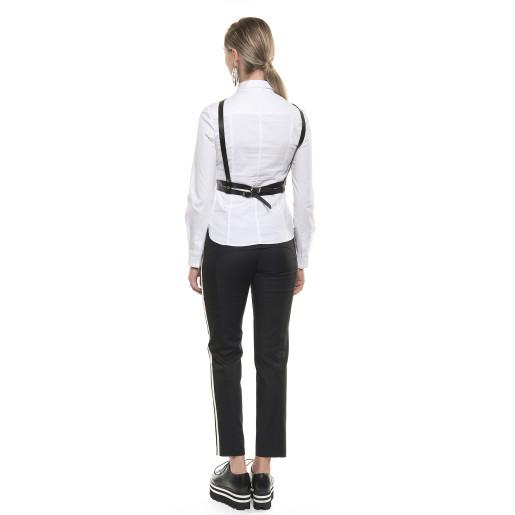 Pantaloni cu vipușcă albă și neagră