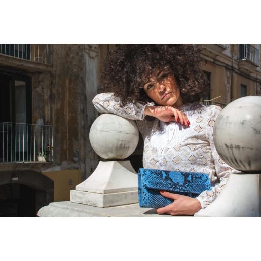 Geantă Paisi Class, model plic, Kiara Piton, negru, 25x4x14