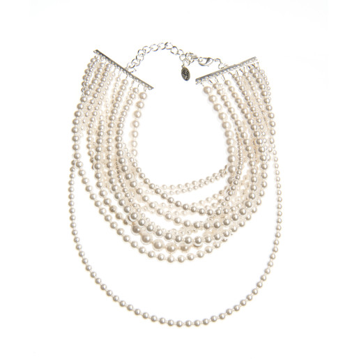 Colier Kiara perle Swarovski White Pearl