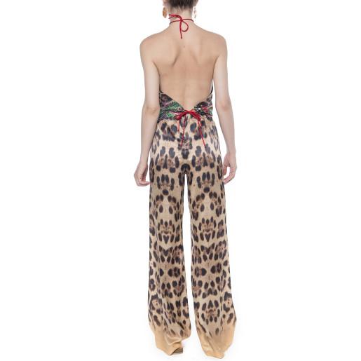 Pantaloni lungi Jungle Vibe, matase naturala 100%