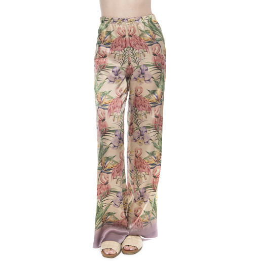 Tropical Breeze Long Pants, 100% Natural Silk