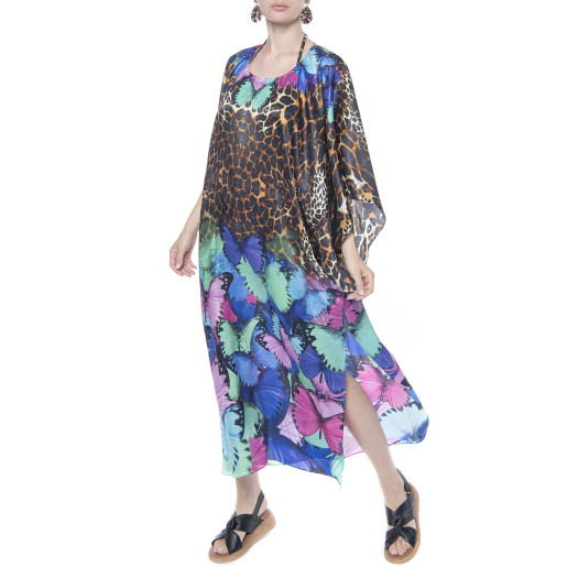 Kimono, matase 100%, imprimeu Butterfly Storm