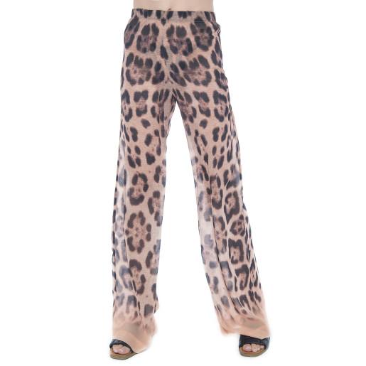 Pantaloni lungi Feline Moves, matase naturala 100%