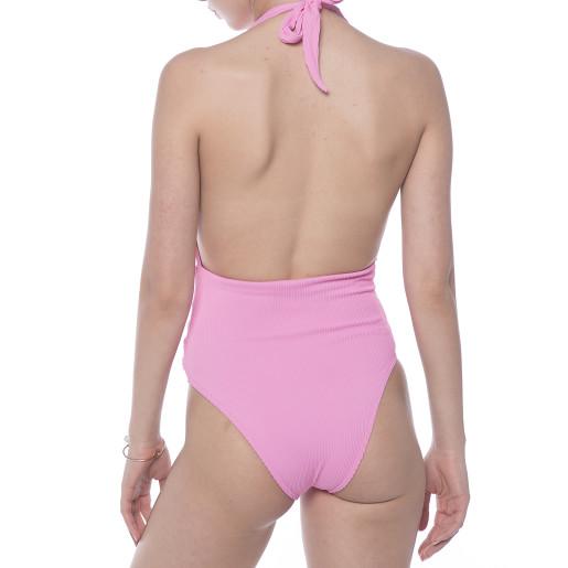 Costum baie intreg Pinky Waves