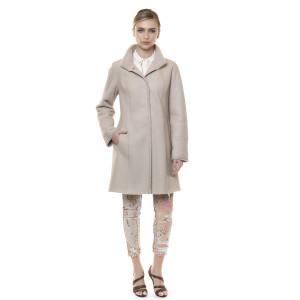 Palton reversibil blana naturala miel, bej, 90 cm
