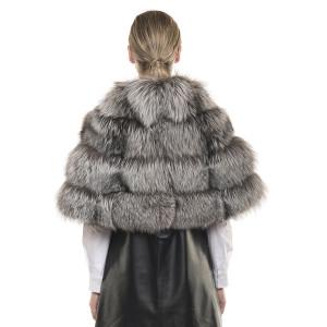 Capă de blană naturală de vulpe, Silver Fox