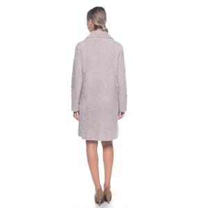 Palton blana naturala miel Merinos, nude, 80 cm