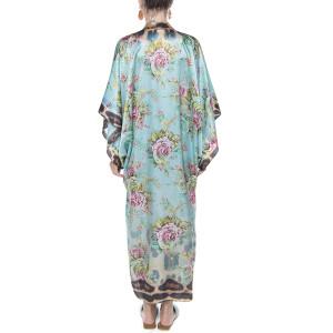 Light kimono, 100% silk, Dreamy Garden print