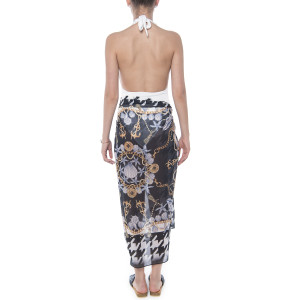 Pareo Black&White Jewel, 112x132cm, voal