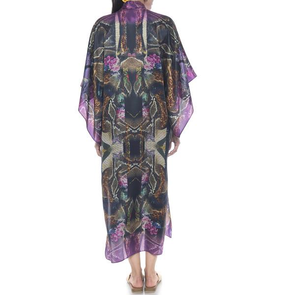 Kimono deschis Kaleidoscop, matase naturala 100%