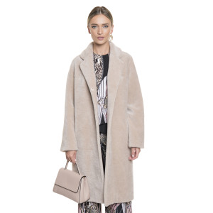Palton de blana naturala din miel Australian tip lana perlata