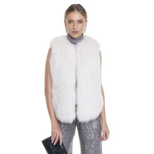 Vesta blana naturala vulpe