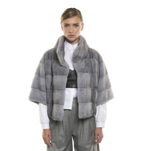 Jachetă de blană naturală de vizon/ nurcă, Sapphire, 62 cm