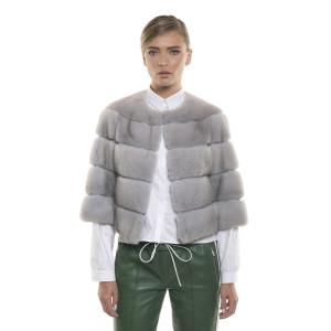 Jachetă de blană naturală de vizon/ nurcă, Sapphire, 52 cm