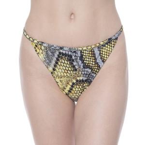 Slip baie Yellow Dots Sneakl, brazilian talie joasa cu sistem reglabil 2 inele