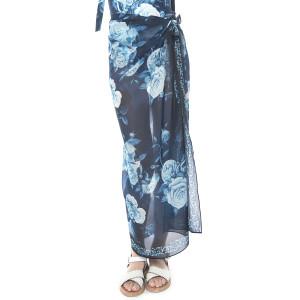 Pareo Blue Roses, voal, 112x132cm