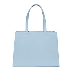 Geanta plaja Dreamy Bleu, dimensiune 30x40x15cm, piele naturala 100%