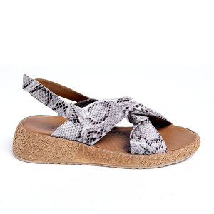 Sandale plaja X Grey Snake, piele naturala 100%
