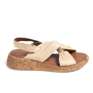 Sandale plaja X Beige, piele naturala 100%