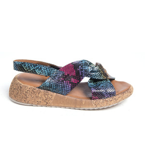Sandale plaja X Caleidoscop, piele naturala 100%
