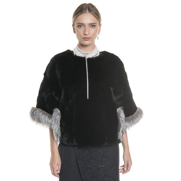 Natural fur jacket orylag capa type