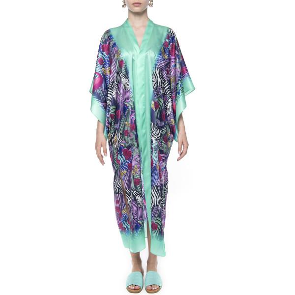 Kimono deschis, matase100%, imprimeu Wild Tale