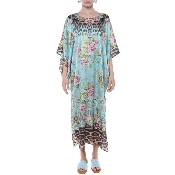 Kimono matase 100%, imprimeu Dreamy Garden