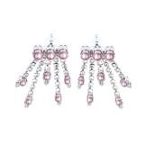 Cercei Maddison perle Swarovski Powder Rose, cristale Swarovski