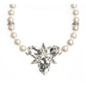 Colier Spectrum perle Swarovski White Pearl, cristale Swarovski