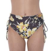 Swimsuit 2 pieces Dancing Flowers, wire cup bra, adjustable sort slip