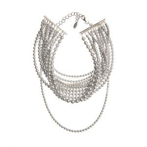 Colier Kiara perle Swarovski Grey